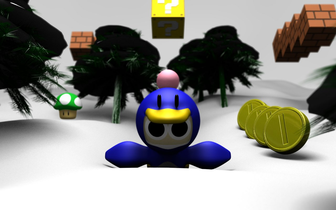 penguin bomberman